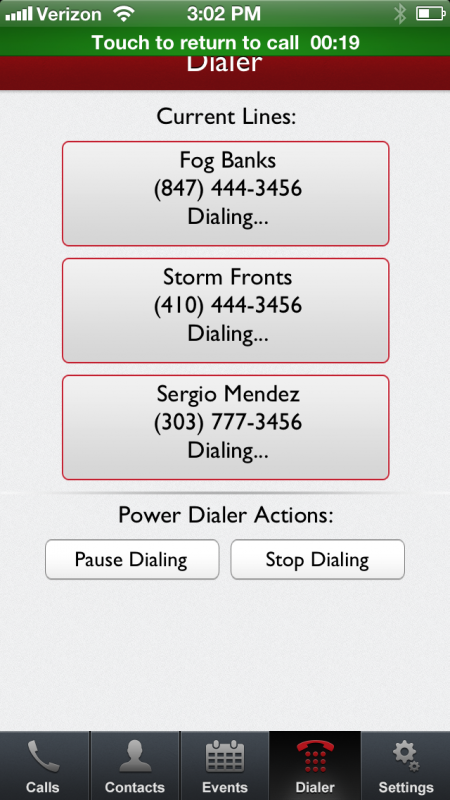 Mojo Dialer for iPhone